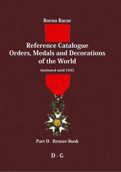 part ii reference catalogue orders medals and decorations of the
