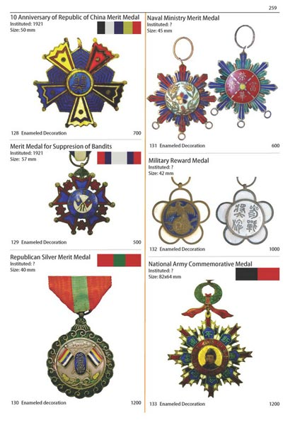 part i reference catalogue orders medals and